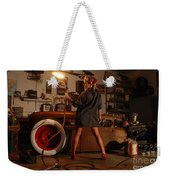 Pin Up Girl With Blow Torch Weekender Tote Bag