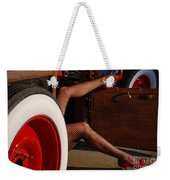 Pin Up Legs In Red Heels  Weekender Tote Bag