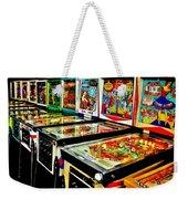 Pinball Alley Weekender Tote Bag by Benjamin Yeager