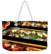 Pinball Arcade Weekender Tote Bag by Benjamin Yeager