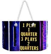 Pinball Pricing Weekender Tote Bag