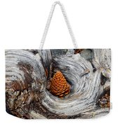 Pine Cone In A Knot  Weekender Tote Bag