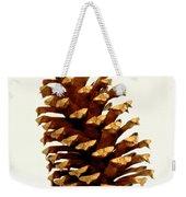 Pine Cone On White Weekender Tote Bag