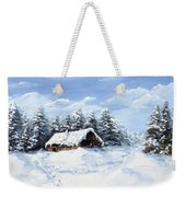 Pine Forest In Winter Weekender Tote Bag