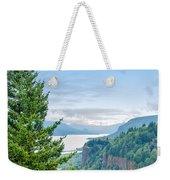 Pine Tree And Columbia River Gorge Weekender Tote Bag