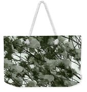 Pine Tree Branches Covered With Snow Weekender Tote Bag