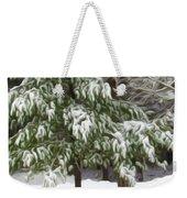 Pine Tree Covered With Snow 2 Weekender Tote Bag