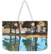 Pine Tree Water Reflections Weekender Tote Bag