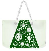 Pine Tree Snowflakes - Green Weekender Tote Bag