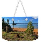 Pine Trees In Lake Almanor Weekender Tote Bag