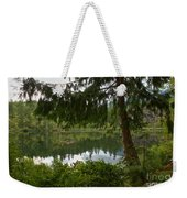 Pine Trees Over Starvation Lake Weekender Tote Bag