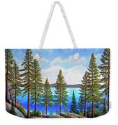 Pine Woods Lake Tahoe Weekender Tote Bag