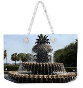 Pineapple Fountain Charleston River Park Weekender Tote Bag