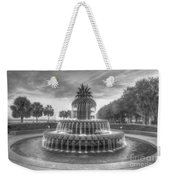 Pineapple Fountain In Black And White Weekender Tote Bag