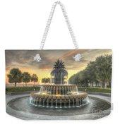 Pineapple Fountain Sunset Weekender Tote Bag