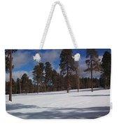 Pinetop Snowfall Weekender Tote Bag