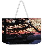 Piney Sunset Weekender Tote Bag