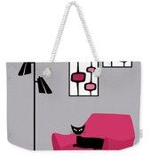 Pink 4 On Gray Weekender Tote Bag