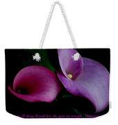 Pink An Purple Calla Lilys Weekender Tote Bag