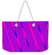 Pink And Blue Abstract Weekender Tote Bag