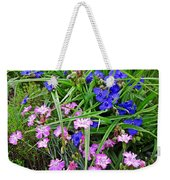 Pink And Blue Garden Weekender Tote Bag