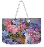 Pink And Blue Hydrangeas Weekender Tote Bag