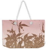 Pink And Brown Haiku Weekender Tote Bag