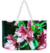 Pink And Green Weekender Tote Bag