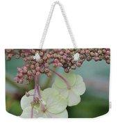 Pink And Green Hydrangea Closeup Weekender Tote Bag