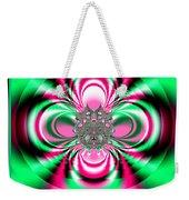 Pink And Green Rotating Flower Fractal 74  Weekender Tote Bag
