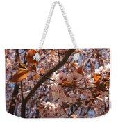 Pink And Leaves Weekender Tote Bag