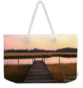 Pink And Orange Morning On The Marsh Weekender Tote Bag