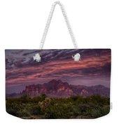 Pink And Purple Desert Skies  Weekender Tote Bag