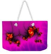 Pink And Purple Digital Fractal Artwork Weekender Tote Bag