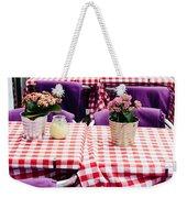Pink And Purple Dining Weekender Tote Bag