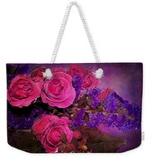 Pink And Purple Floral Bouquet Weekender Tote Bag