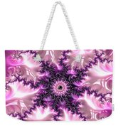 Pink And Purple Soft And Creamy Fractal Art Weekender Tote Bag