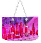 Pink And Red Bottles Weekender Tote Bag by Kaye Menner