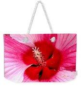 Pink And Red Hibiscus Flower Weekender Tote Bag
