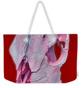 Pink And White Breast Cancer Awareness Cow Skull Weekender Tote Bag