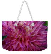 Pink And White Dahlia  Weekender Tote Bag