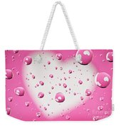 Pink And White Heart Reflections In Water Droplets Weekender Tote Bag