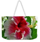 Pink And White Hibiscus Weekender Tote Bag