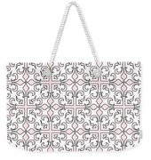 Pink And White Interlude Weekender Tote Bag