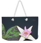 Pink And White Lily Weekender Tote Bag