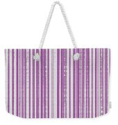 Pink And White Paper Weekender Tote Bag