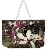 Pink And White Spring Magnolia Weekender Tote Bag