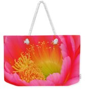 Pink And Yellow Cactus Flower Weekender Tote Bag
