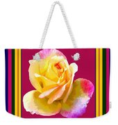 Pink And Yellow Rose Weekender Tote Bag