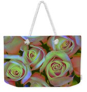 Pink And Yellow Roses Pop Art Weekender Tote Bag